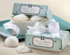 "Wedding Favors ""Ocean Breeze"" Scented Seashell Soaps"