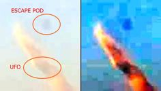 A possible burning UFO over downtown Vancouver was caught on camera by Katherine Ramdeen on July 3, 2016. As the UFO streaks across the sky, toward Earth, it suddenly releases an escape pod which shoots up into the sky. Then the escape pod makes...