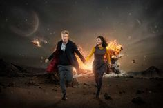 'Doctor Who' Season 9 on BBC America takes the Doctor (Peter Capaldi) and companion Clara Oswald (Jenna Coleman) on some dark, demonic and mysterious adventures. September, 2015 Picture shows: Peter Capaldi as the Doctor and Jenna Coleman as Clara Photo: BBC WORLDWIDE LIMITED, Photographer/Designer / BBC America / BBC/BBC Worldwide 2015