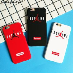 Fashion Hard PC Phone Case For iPhone 5 5s Se Flyman Michael Jordan Supreme Letter Cover Funda Coque For iPhone 6 6s Plus 7 Plus