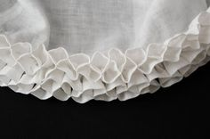 Medieval Silkwork: Northern German frilled veil Part III