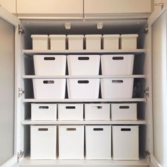 917858 989528161138754 317483944 n. Organization Skills, Office Storage, Muji, Keep It Simple, White Houses, Toilet Paper, Home Crafts, Shelves, Cool Stuff