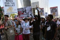 Activists march on the Cites conference in Sandton, Johannesburg, last Saturday.