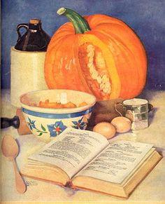 Vintage fall baking. #vintage #Thanksgiving #Halloween