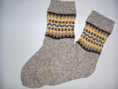 Hand Knitted Wool Socks For MenColorful Wool by Billeshop on Etsy, $34.00