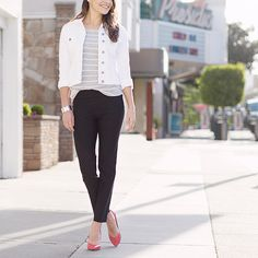 Classic styling with the striped Corinna top. | Stitch Fix
