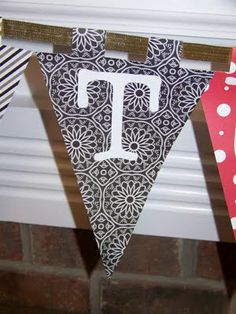 Make Large Pennant with initial for Gift table. Graduation Decorations, Diy Party Decorations, Party Time, Party Fun, Party Ideas, Flag Banners, Flags, Celebrate Good Times, Diy Banner