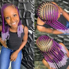 A selection of 50 kids braids with beads hairstyles to get your kids holiday ready. From kids braided updos with beads, to single braids with beads. Little Girl Braids, Black Girl Braids, Braids For Black Hair, Girls Braids, Kid Braids, Black Curls, Braids For Black Kids, Little Girl Braid Styles, Braids Easy