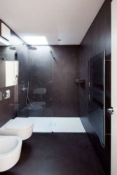 Villa G is a family house in Sorengo, Lugano, Switzerland. Surrounded by a garden, the villa was designed by SCAPE and completed in Small Space Bathroom, Modern Bathroom, Small Spaces, Interior Design Elements, Decor Interior Design, Interior Decorating, Villa, Bathroom Toilets, Bathrooms