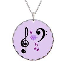 MoonDreams Music Notes Necklace by #MoonDreamsMusic #MusicNecklace #PurpleNecklace