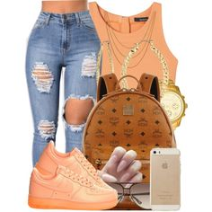 A fashion look from September 2016 by polyvoreitems5 featuring NIKE, MCM, Michael Kors, Fragments and Shashi