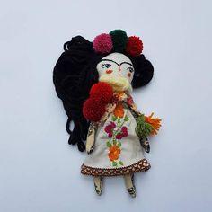 12 Frida Kahlo Doll Art Doll Handmade Doll OOAK Doll #thedollsunique #dolls #fridakahlo