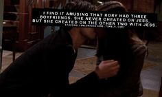 Stars Hollow Confessions - Jess and Rory! Gilmore Girls Hmm, interesting, I've never noticed that Jess Gilmore, Gilmore Girls Quotes, Gilmore Girls Dean, Lorelai Gilmore Quotes, Rory And Jess, Luke And Lorelai, Tv Quotes, Girl Quotes, Team Logan