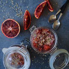 Vanløse blues.....: Chiagrød med blodappelsin og hampefrø ( V + GF )