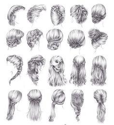 Frisuren Zeichnen - Frisuren 2018 Dibujar peinados - Pin von Ana Flávia gen chibi's Art Drawings Sketches, Cartoon Drawings, Easy Drawings, Pencil Drawings, Girl Drawings, How To Draw Braids, How To Draw Hair, Drawing Hair Tutorial, Eye Drawing Tutorials