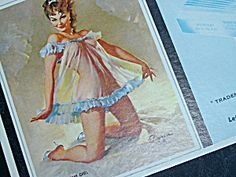 Brown & Bigelow Pin Up Blotter, National Thread, OH