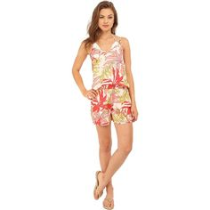 Vince Camuto Crete Flower Romper Cover-Up (Blush Balm) Women's... (€54) ❤ liked on Polyvore featuring swimwear, cover-ups, multi, bikini swimsuit, one piece bikini, bikini cover ups, 1 piece swimsuit and swim suit cover up
