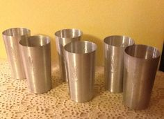 Set of 6 Aluminum Wheat Tumblers