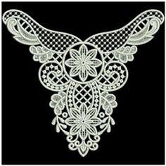 FSL Heirloom Neckline embroidery design