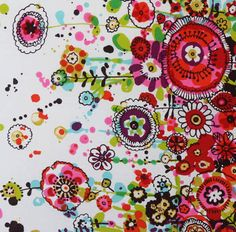 Latest Designer Fabric 'Larkspur Border in Brights' by Alexander Henry (USA). Fabric are for sale online and in our fabric shop. All Kinds Of Everything, Alexander Henry, Fabric Shop, Illustration Art, Illustrations, Fabric Design, Objects, Textiles, Kids Rugs