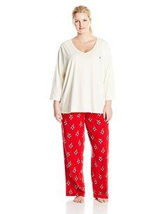 64e86df2ae Nautica Sleepwear Women s Plus-Size Knit Mistletoe Pajamas  http   www.effyourbeautystandarts