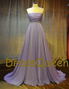 A line chiffon Plus size evening dress,prom dresses for fat women,strapless bridal dresses
