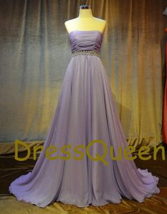 A line chiffon Plus size evening dress,prom dresses for fat women,strapless bridal dresses