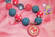 Pinkie Pie necklace My Little Pony necklace by AKidsDreamBoutique