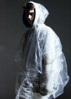 Transparent plastic hoody