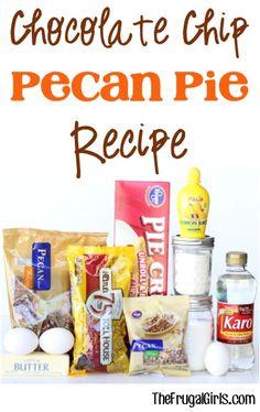 Chocolate Chip Pecan Pie Recipe! ~ at TheFrugalGirls.com #pies #recipes #thefrugalgirls