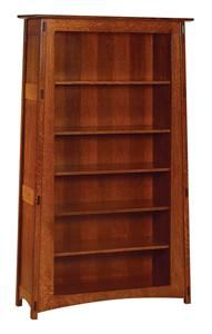 """Amish 76"""" Open McCoy Mission Bookcase"""