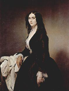 Portrait of Matilde Juva Branca c.1851 - Francesco Hayez