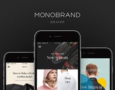"""Monobrand #iOS #UI #Kit by Great Simple"" http://be.net/gallery/38222769/Monobrand-iOS-UI-Kit-by-Great-Simple"