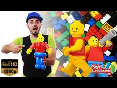 ANIMATORE PER BAMBINI - LEGO MAN BALLON - Feste CompleanniFeste Compleanni