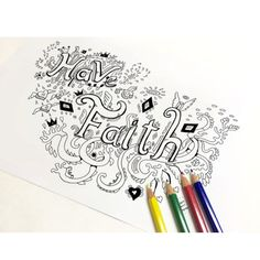 You just gotta have faith #adultcoloring #coloringforadult #coloringpages