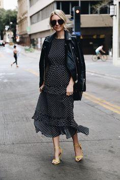 Polka dot dress for your spring wardrobe / Платье в горошек для вашего весеннего гардероба | The Anastasia Says