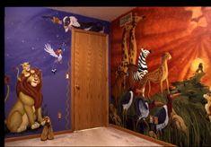 mural wall and mufasa wall