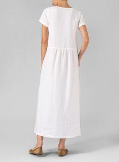 Vivid Linen discover a new world of comfort and style in linen clothing. Jacket Dress, Dress Skirt, Vestidos Sport, Linen Dress Pattern, Vintage Dresses Online, Lace Dress Styles, Linen Shorts, Summer Outfits Women, Linen Dresses