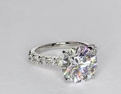 Bella Diamond Engagement Ring in Platinum (over 1/2 ct. tw.) This is insane!!