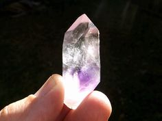 Gorgeous and powerful Brandberg with Amethyst Inclusion. Find it at www.esotericaromas.etsy.com