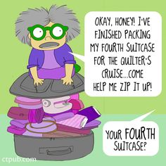 Oh, Mrs. Bobbins! Do you really need to bringallyour fabric? For more of Mrs. Bobbins' adventures, you can purchaseThe Big Book of Bobbinsright here!