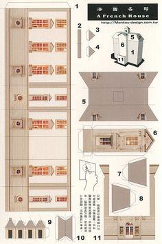 A French House - Cut Out Postcard | Flickr: Intercambio de fotos