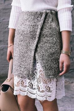 lace hem pencil skirt  http://rstyle.me/n/vip32pdpe