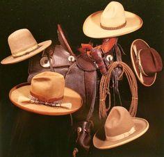Antique Stetson cowboy hats.