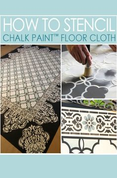 How to Stencil Chalk Paint Floor Cloth