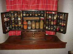 From a virtual museum of apothecary antiques, pill rollers and antique jars Apothecary Chests Chinese medicine has a long history. Description from antiqueau.net. I searched for this on bing.com/images