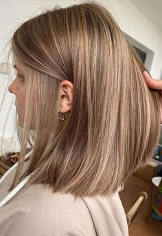Ombre Hair Color, Hair Color Balayage, Blonde Color, Medium Length Hairstyles, Summer Hairstyles, Straight Hairstyles, Wedding Hairstyles, Ash Blonde Hair, Shoulder Length Hair