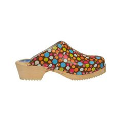 Women's Cape Clogs Confetti (£65) ❤ liked on Polyvore featuring shoes, brown, casual, heels, clog shoes, flat clogs, brown clogs, heeled clogs and brown flat shoes
