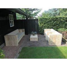 Gartenmöbel aus altem holz  Gartenset Eckbank aus unbehandeltem Gerüstholz mit Tisch Lounge ...