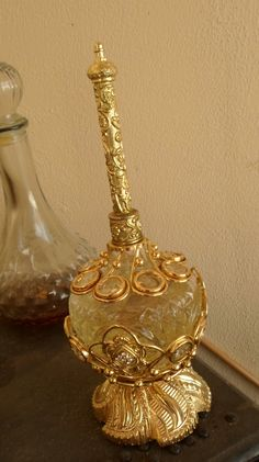 A bottle of traditional Arabic perfume called Oud